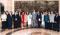El Príncipe de Asturias recibe al CEHS en Zarzuela