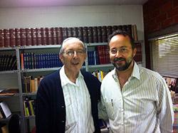 Bermejo con John Sobrino