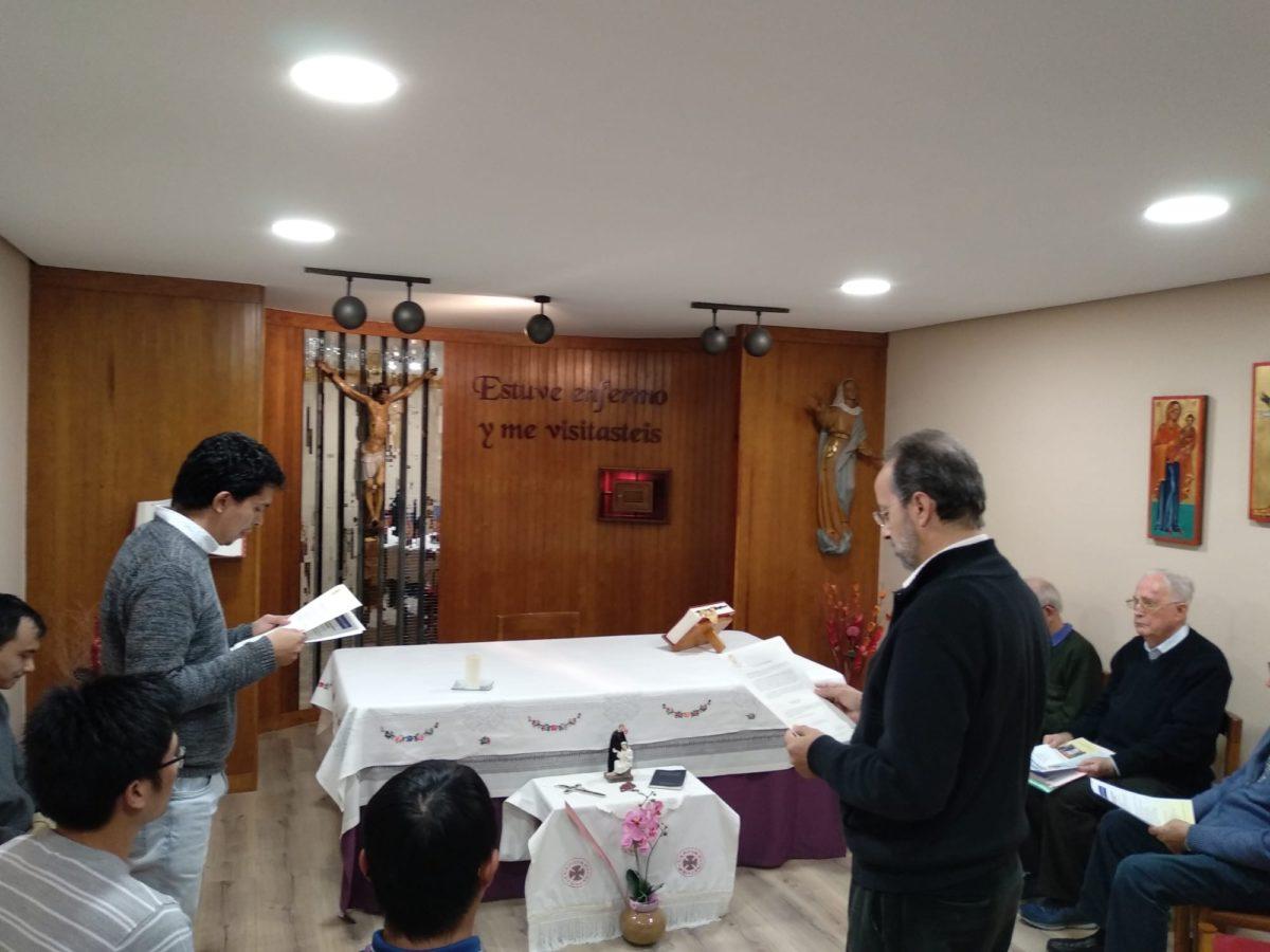 Renovación de votos. Religiosos camilos