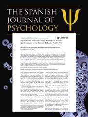 Nuevo artículo en Spanish Journal of Psychology
