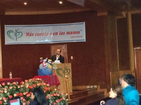 José Carlos Bermejo en el  Congreso Latinoamericano de pastoral de la salud (Colombia)