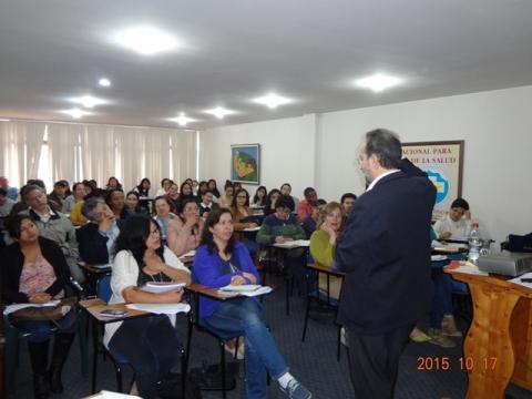 Trabajadores y voluntarios FECUPAL con José Carlos Bermejo