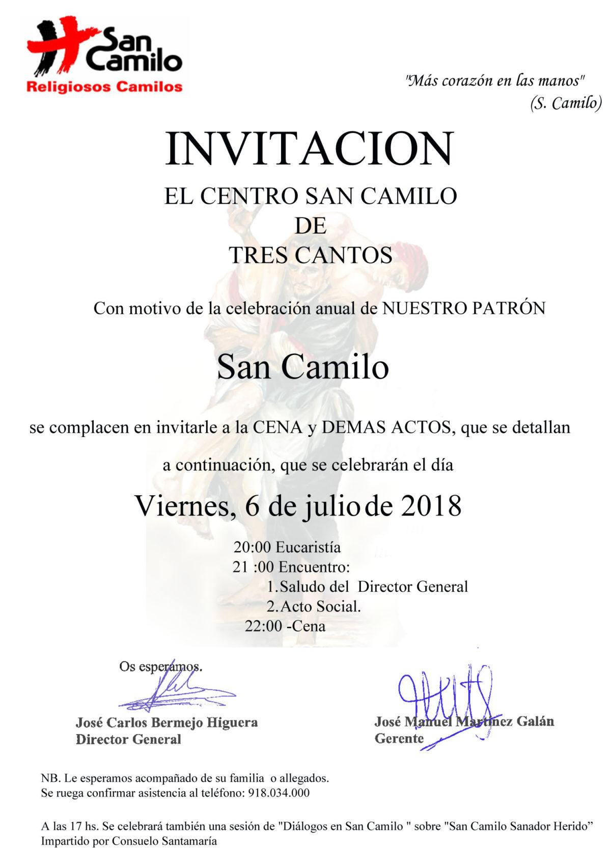 Bermejo invita a celebrar San Camilo el 6 de julio