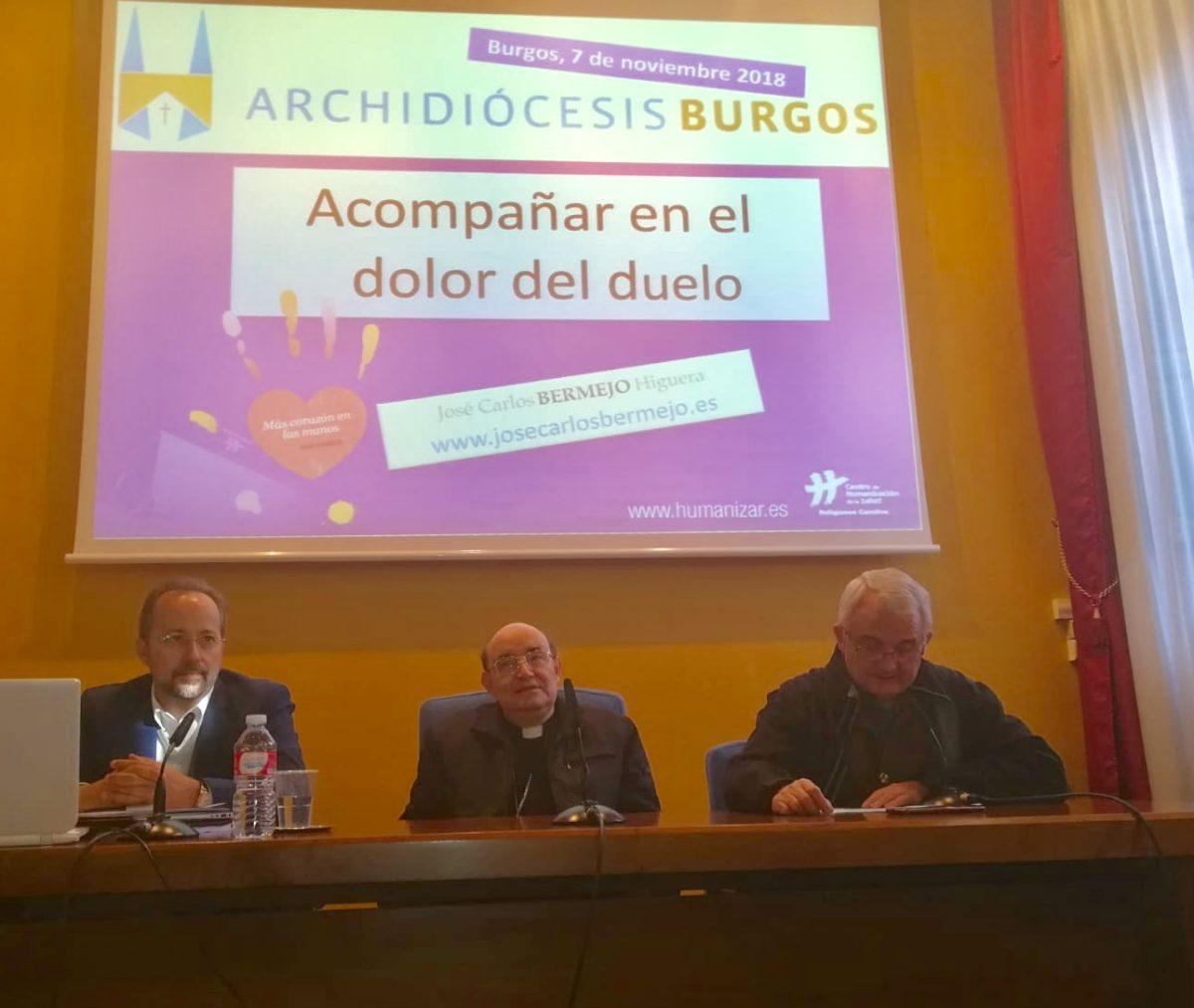 Arzobispo Fidel Herráez y José Carlos Bermejo en Burgos