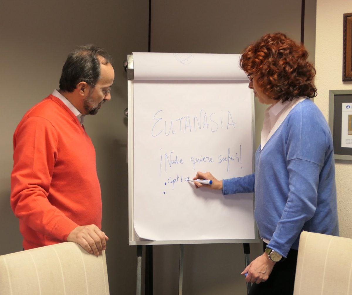 Bermejo y Belda planifican libro eutanasia