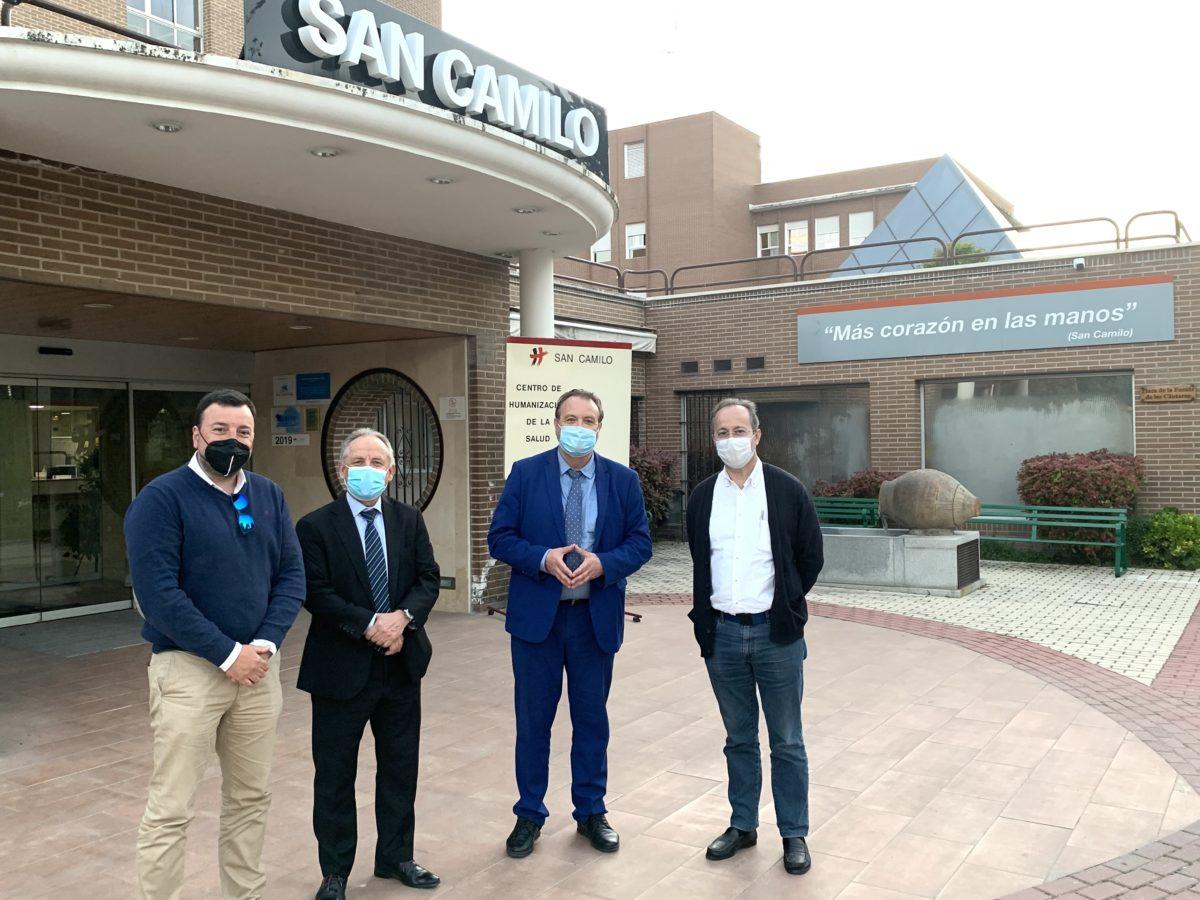 El Director General del Mayor de la Comunidad de Madrid, visita San Camilo