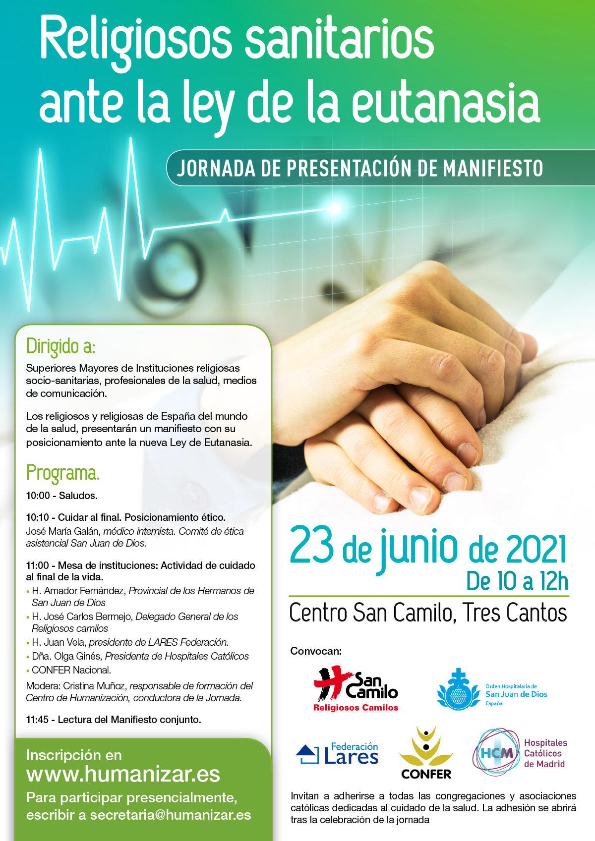 Religiosos sanitarios de España ante la eutanasia