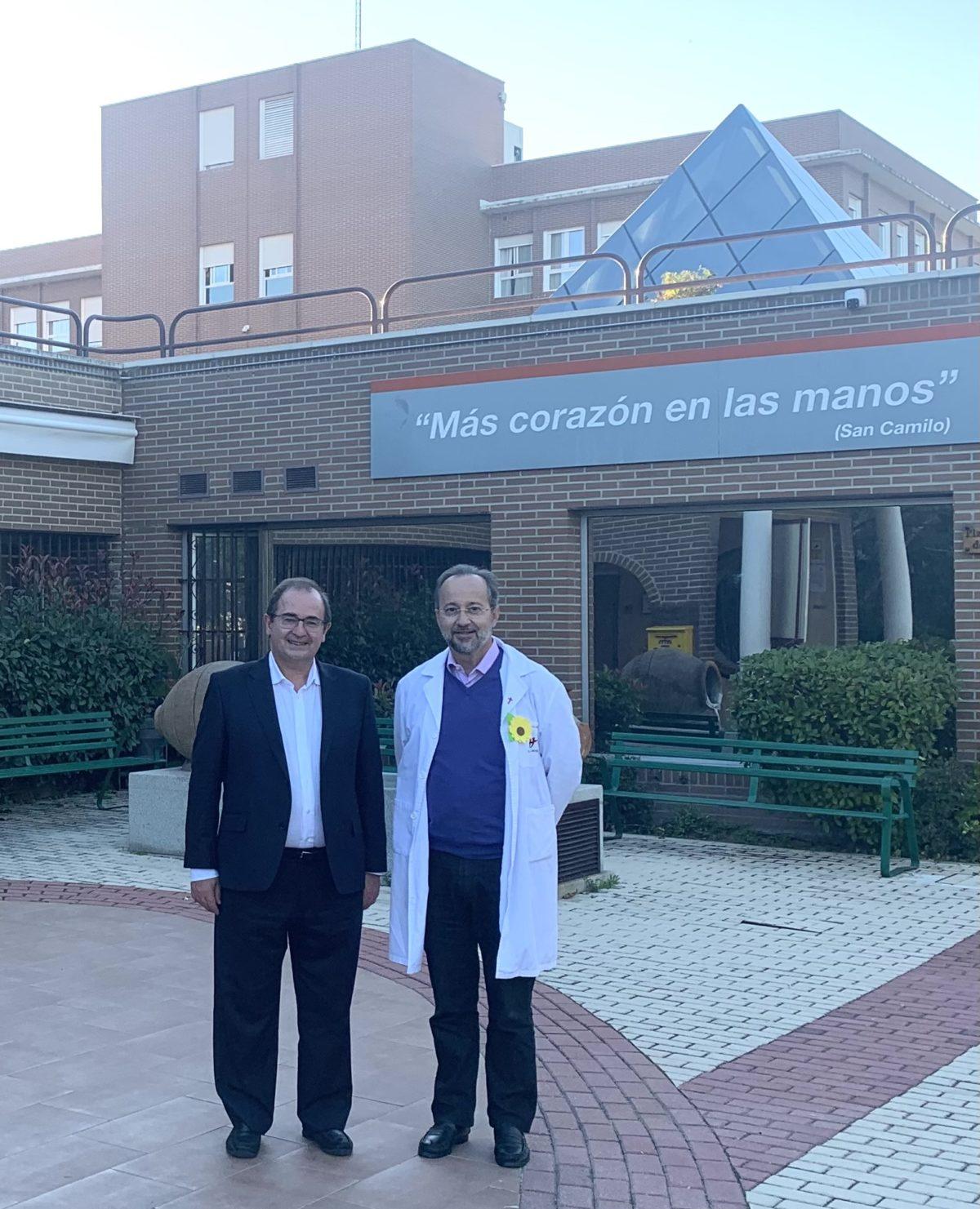 Dr. Carlos Centeno y José Carlos Bermejo en San Camilo